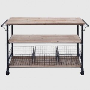 Shelves and Baskets Rolling Cart