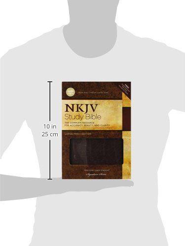 NKJV Study Bible, Large Print, Bonded Leather, Burgundy: Large Print Edition…