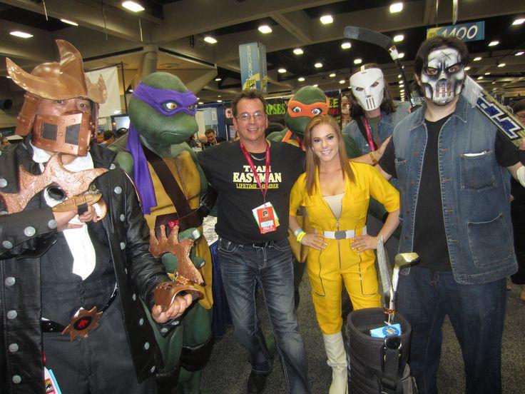 SDCC TMNT Steampunk Shredder Turtles Kevin Eastman April and Casey Jones