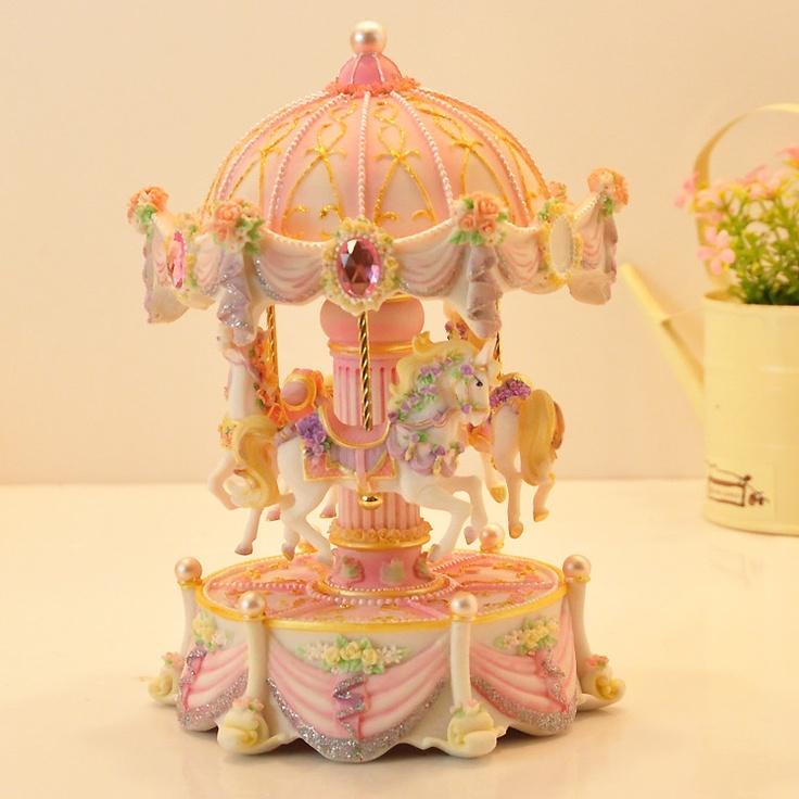 Pink birthday music box colorful luminous rotating music box gifts to girlfriend or friends on AliExpress.com. $60.00