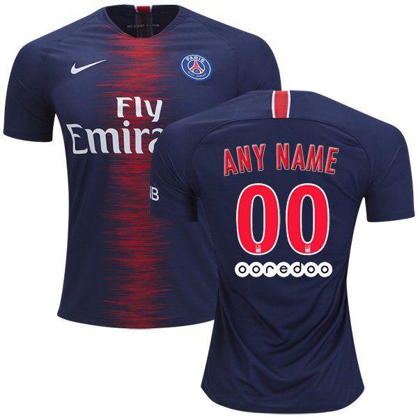 FAN+SHIRT+Paris+Saint-Germain+2018-2019+Primary+Custom+Jersey+New+Free+Shipping   juventus  marcelo  mbappe manunited  fifa19  premierleague barcellona ... 55e39f361