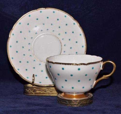 1000 images about polka dots on pinterest china tea for Gold polka dot china