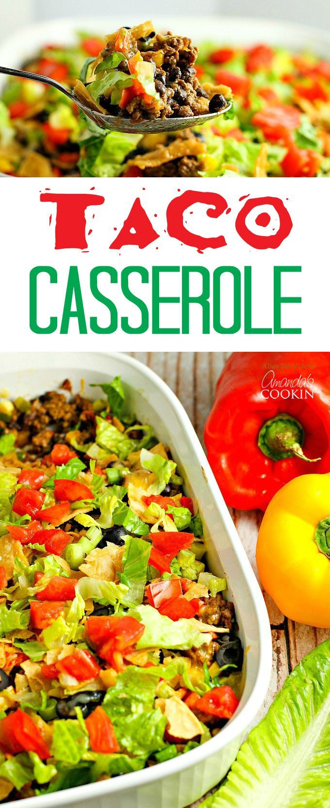 This delicious and hearty taco casserole will quickly become a family favorite…