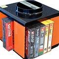 70er Jahr Kassettenständer, natürlich in orange