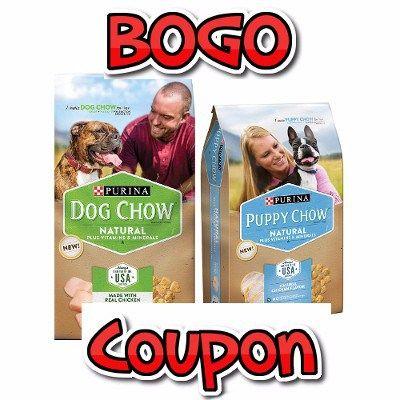 BOGO Purina Natural Dog Chow or Puppy Chow Coupon 2016 - http://couponsdowork.com/pet-coupons/bogo-purina-coupon-march2016/