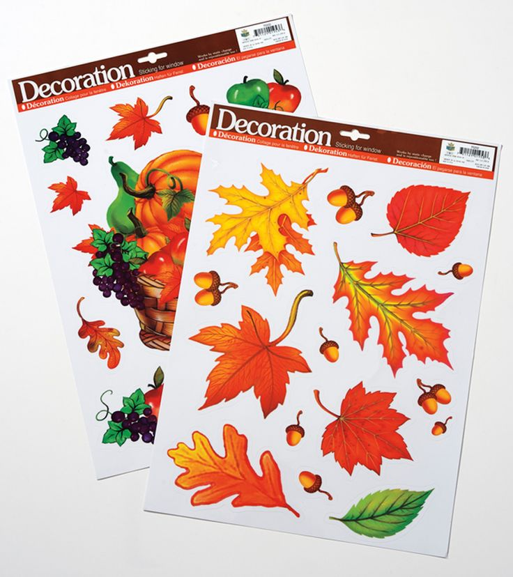 Add seasonal accents to your décor with these #Fall Harvest Window Clings.