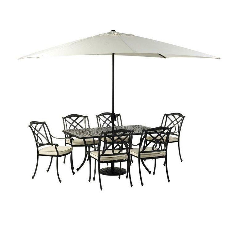 elegant classy cast aluminum outdoor furniture valencia rectangle aluminium garden furniture set in black