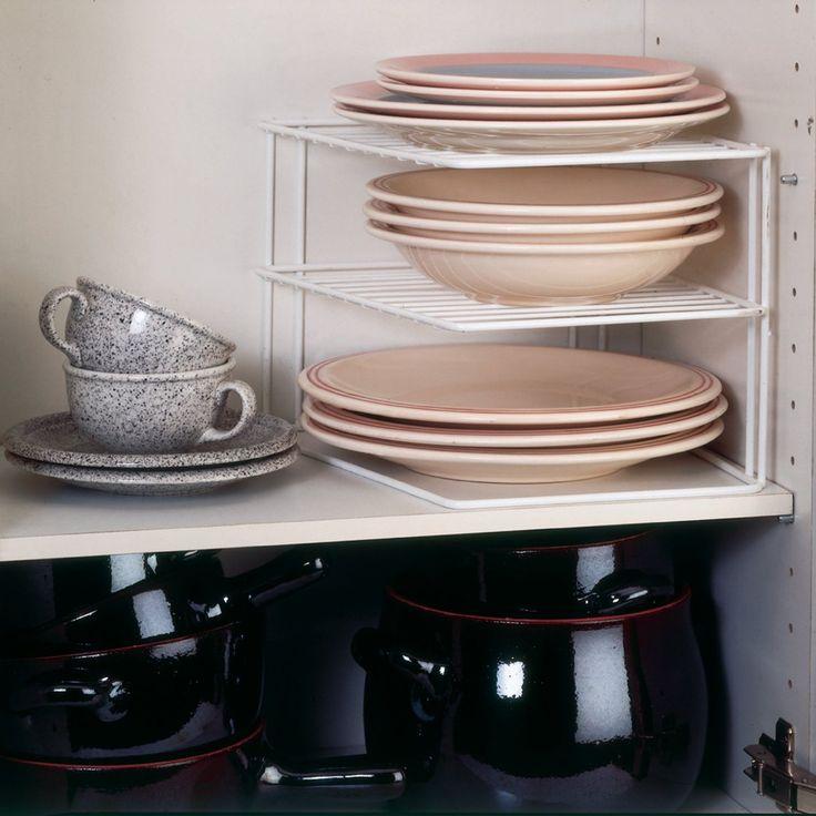 Metaltex 364202095 Silos - Ripiano angolare a 2 piani per armadietto da cucina, 25 x 25 x 19 cm, colore: Bianco: Amazon.it: Casa e cucina