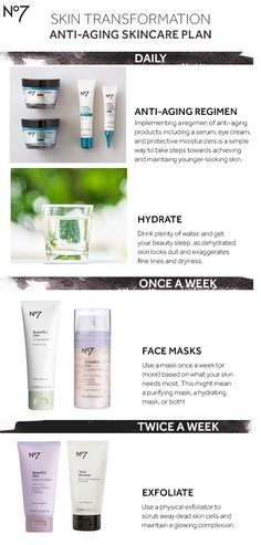 Transform your skin in 8 weeks with this guide and the best in anti-aging skincare, brought to you by No7. All products available at @target: Protect & Perfect Intense Day Cream: $24.99 Protect & Perfect Intense Night Cream: $24.99 Protect & Perfect Intense Advanced Serum: $29.99 Protect & Perfect Intense Eye Cream: $21.99 Beautiful Skin Purifying Mask: $16.99 Beautiful Skin Hydration Mask: $16.99 Beautiful Skin Radiance Exfoliator: $10.99 Total Renewal Micro-Dermabrasion Exfoliator: $17.99
