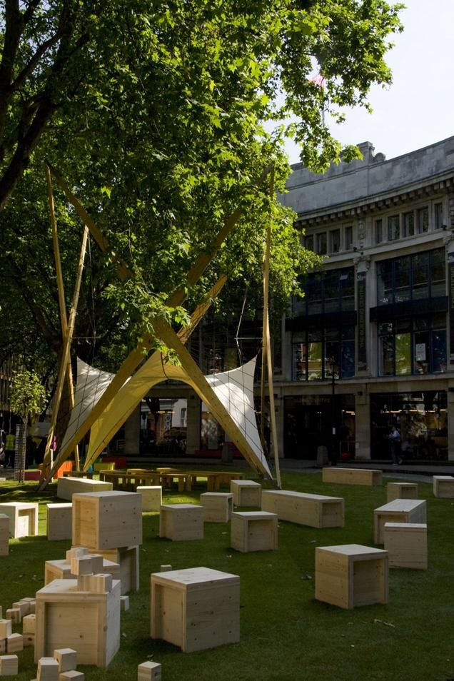 Moxon Architects' 'Pocket Park' at The Building Centre | London Festival of Architecture 2010 | Architects Journal
