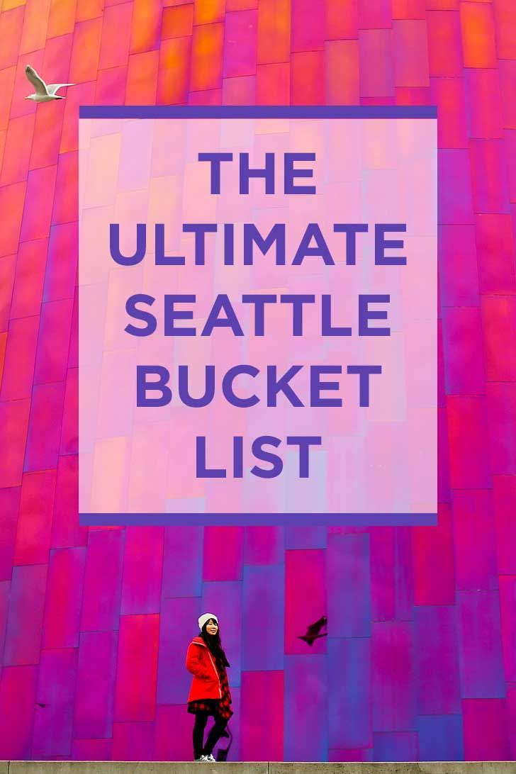 The Ultimate Seattle Bucket List - from the popular spots everyone has to do at least once to the spots a little more off the beaten path. // http://localadventurer.com