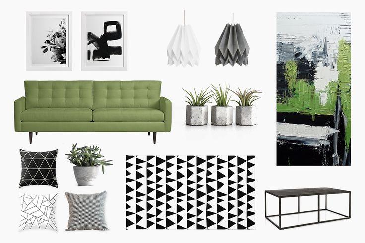 an urban living room spot