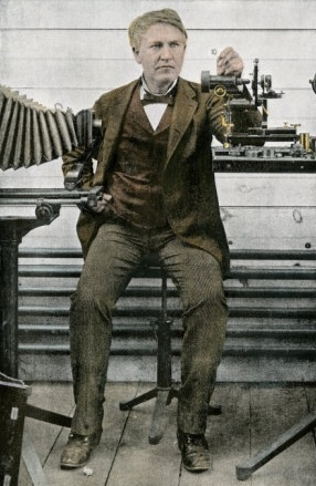 Thomas Edison with His Motion Picture Apparatus, 1893