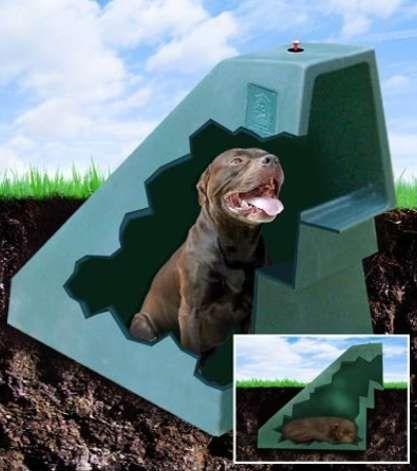 Guarida geotérmica para perros … mantenga a los perros calientes (¡y frescos!) Con este perfil bajo …   – We Love Our Pets!