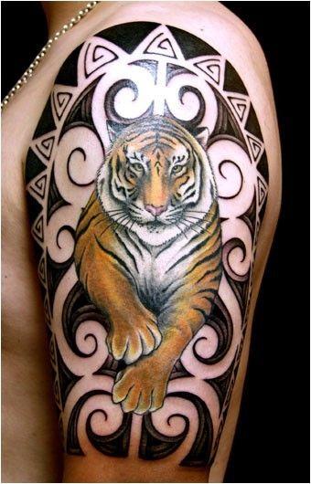 Tatuaggio giapponese con la tigre tiger with frame art