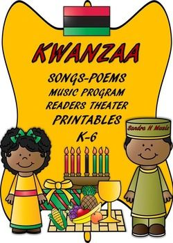 Kwanzaa Songs, Readers Theater, Music Program and Printables Bundle is a great way to teach students about Kwanzaa. Students will learn: The Colors of Kwanzaa and their meaning All about the candles; colors and meanings What Kwanzaa stands for Symbols of Kwanzaa The Pdf.