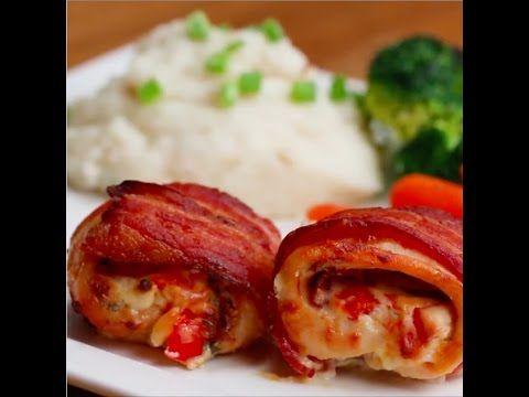 Ricos Rollitos de pollo y tocino - Bien tasty.net