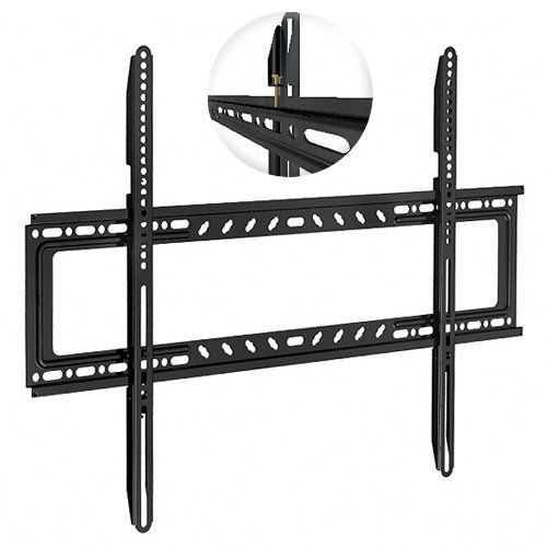 """Universal Fixed Low Profile TV Wall Mount; (fits most screens from 42"""" - 65"""") by Unknown. $19.88. This low-profile TV wall mount is for LED, LCD, Plasma and other flat panel displays measuring between 42-65"""" diagonally.  It's simple to install with a sturdy, one-piece, 13-gauge steel backplate and 2 pre-assembled mounting arms.  The mount supports all VESA standards up to 600x800 (mounting holes on your screen can be up to 33"""" apart horizontally and up to 24"""" vertically).  ..."""