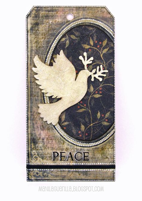12 Tags for Christmas 2017 - Peace