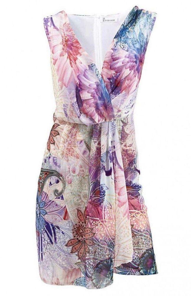 90c09d30b48aba Z by Zucchero Damen-Kleid Chiffonkleid rosa-bunt | Kleidung & Accessoires,  Damenmode