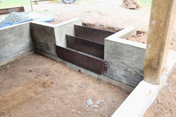 Corten Steel Retaining Wall Construction Detail
