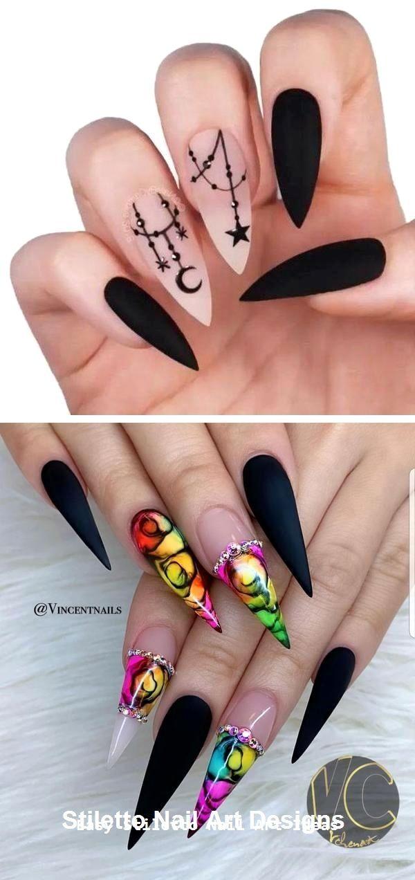 30 Great Stiletto Nail Art Design Ideas #stilettonails #nailart – Nails