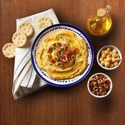 Homemade Hummus with Olive Salsa - Allrecipes.com by Goya