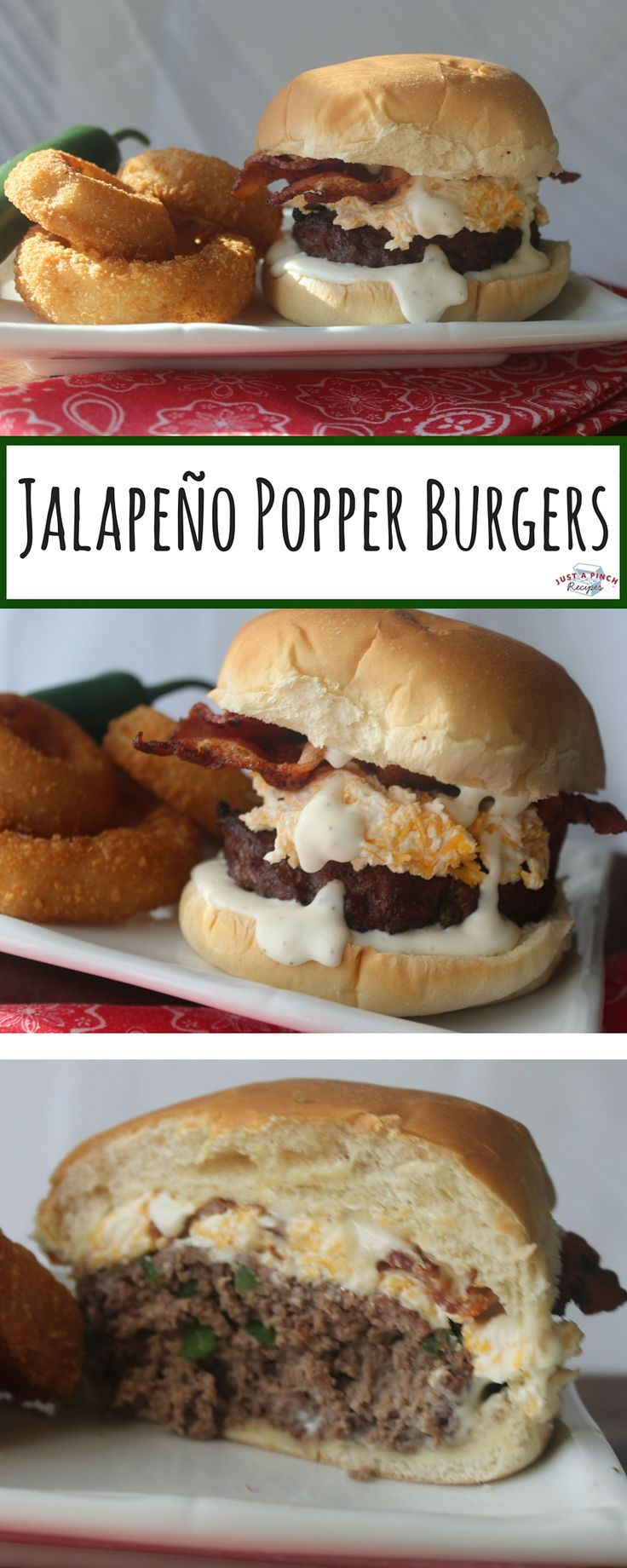 Jalapeno popper meets burger? YES PLEASE! This burger recipes is seriously amazing!
