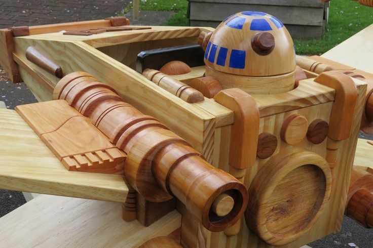 One of the most amazing wooden X-Wing Rocker that will rock your geeky mind