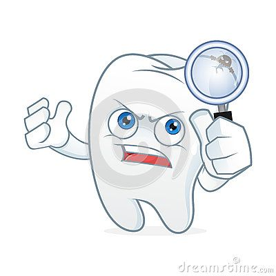 Tooth cartoon mascot had toothache