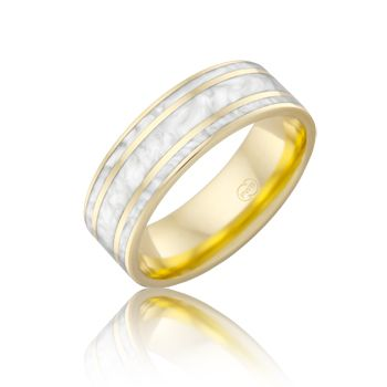 White Spectrum Ring from Peter W Beck Australia. #PeterWBeck #AustralianMade #Australia #WeddingRing #Wedding #Ring #YellowGold #Gold