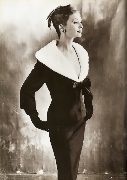 from the small pic, i thought she had cool mohawky hair... | RP » Suzy Parker in Balenciaga 1953