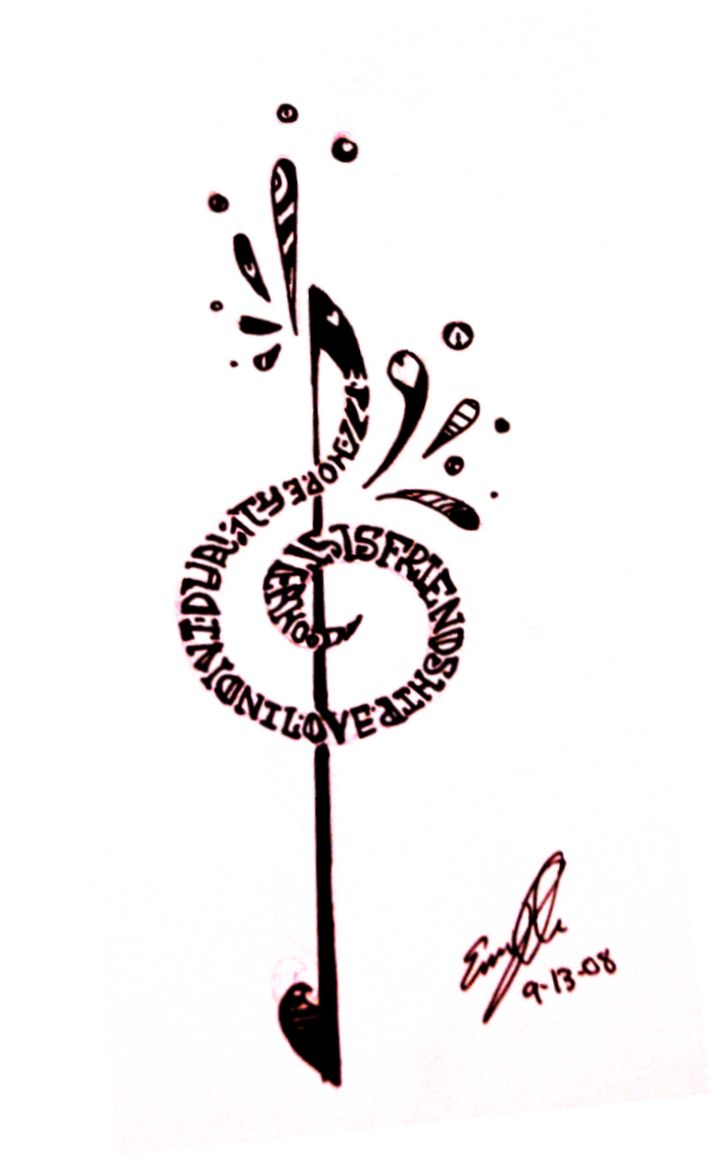 Treble_Clef_Tattoo_by_YLimes.png (715×1162): Music Treble, Deviantart, Treble Clef Tattoo, Small Tattoo, Tattoo'S, Tattoo Design, Tattoo Art, Design Tattoo, Ink