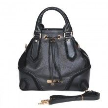 Knockoff Designer Fashion Burberry Genuine Calfskin Leather Medium Tote Bag Black