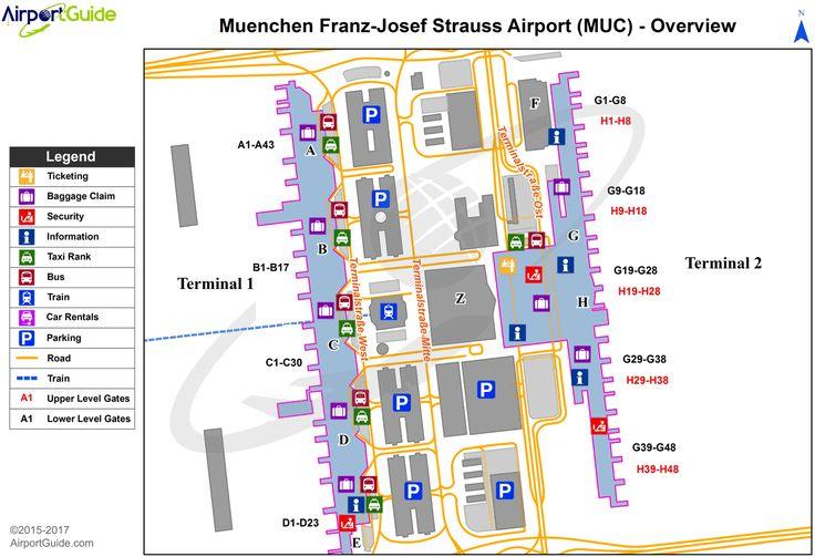 Munich Munich International (MUC) Airport Terminal Map
