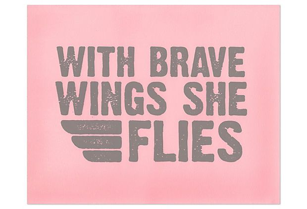 One Kings Lane - Pieces of Inspiration - Pink Brave Wings