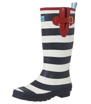 rain boots- stripes!