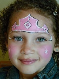 Fantabulous #face-painting for girls in #Halloween - Princess - Preserve Your Memories in #iCustomStitch