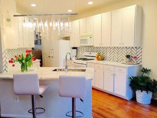 Kitchen Backsplash Edge 18 best stenciled kitchens images on pinterest | cutting edge