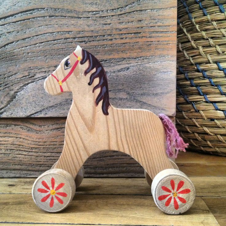It always was, it is and it will be kid's favorite toy! Wooden horse in the wooden interior!