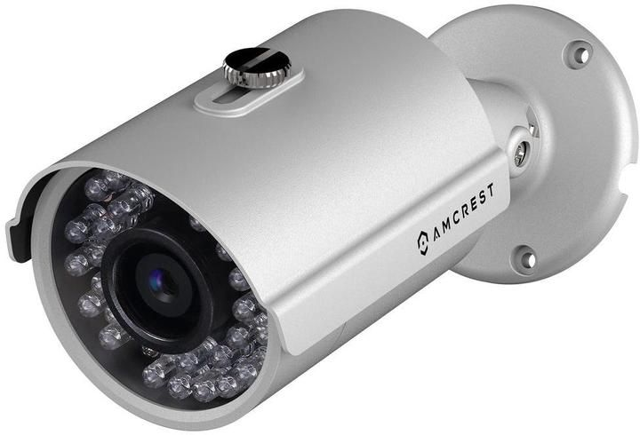 Amcrest HDSeries Outdoor 960p POE Security Bullet Camera with IP66 Weatherproof, 960p (1280 TVL), IPM-743E (Silver)