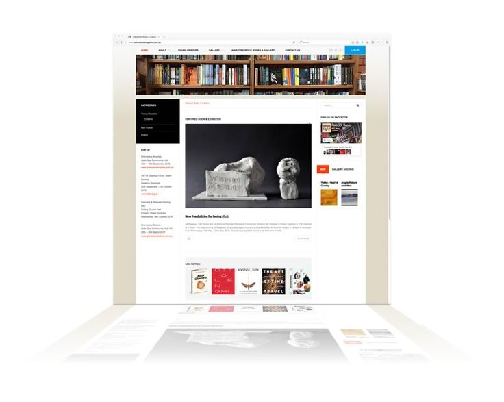 Long-time client Redrock Books & Gallery required a new CMS that included all the latest bells, whistles & security with room to stretch-out when needed. We created this WordPress CMS, featuring the latest books and exhibits. Web development by Phunkemedia. www.phunkemedia.com