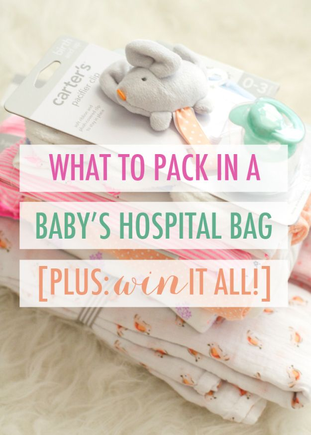 What to pack in a baby's hospital bag | Plus, Carter's, Dr. Brown's, MAM, and L.L.Bean are partnering to bring one lucky winner all of the essentials!