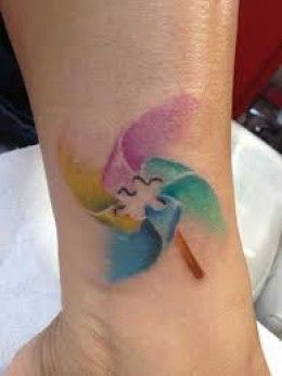 watercolour autism tattoo..Mandy bojonawski...thought of you and thought this was pretty