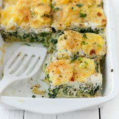 Zapiekanka ze szpinakiem, serem i ziemniakami - Przepis