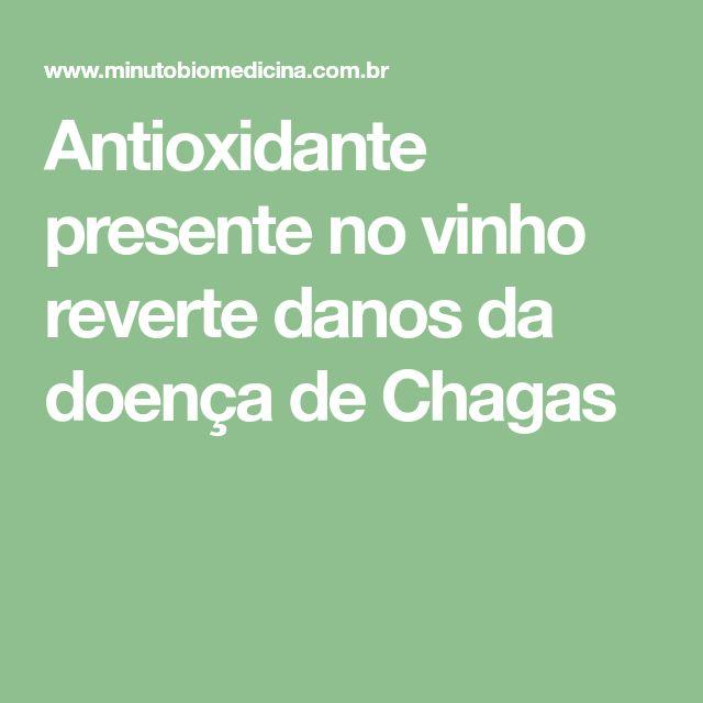 Antioxidante presente no vinho reverte danos da doença de Chagas