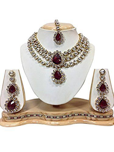 Beautiful Indian Necklace Set Maroon Color Kundan Jewelle... https://www.amazon.com/dp/B01J9QM5ZS/ref=cm_sw_r_pi_dp_x_usaUybKZKSTMQ