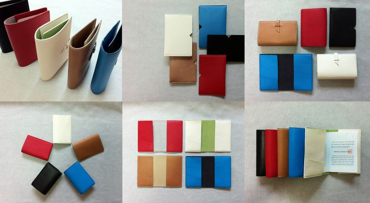 + colourful passport cover made with goatskin and suede + 3 types - strap style, book cover style, and folder styles