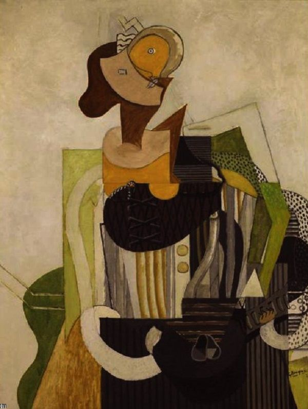 © Georges Braque - Woman with a guitar (1913)