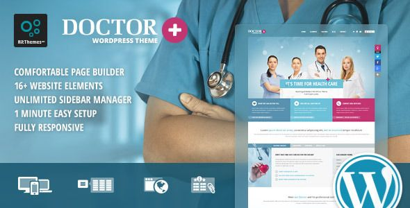Doctor+ Responsive Medical WordPress Theme
